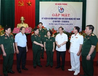 Quân ủy Trung ương và Bộ Quốc phòng luôn quan tâm lãnh đạo, chỉ đạo, đầu tư phát triển hệ thống báo chí quân đội