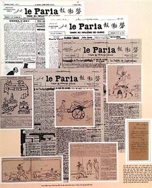Nét vẽ biếm họa của Bác trên báo