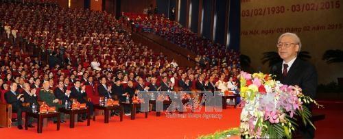 Mít tinh trọng thể kỷ niệm 85 năm Ngày thành lập Đảng Cộng sản Việt Nam