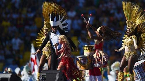 Ngập tràn vũ điệu samba trong lễ mạc World Cup 2014