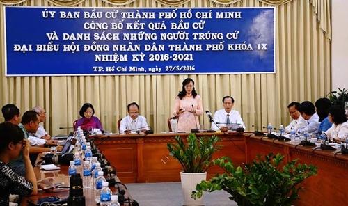 TP Hồ Chí Minh công bố danh sách trúng cử đại biểu Hội đồng nhân dân thành phố khóa IX