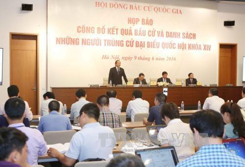 Công bố danh sách 496 người trúng cử đại biểu Quốc hội khóa XIV