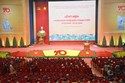 Mít tinh trọng thể kỷ niệm 70 năm Ngày Toàn quốc kháng chiến