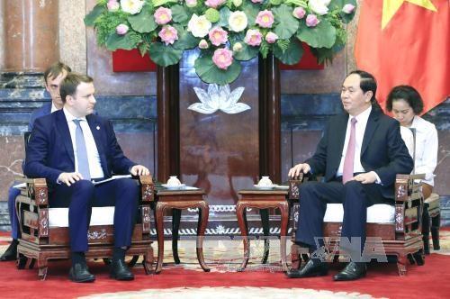 Chủ tịch nước Trần Đại Quang tiếp Bộ trưởng Phát triển kinh tế Liên bang Nga