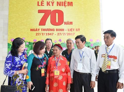 Kỷ niệm trọng thể 70 năm Ngày Thương binh-Liệt sĩ
