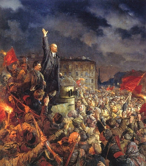 Cách mạng Tháng Mười qua tranh vẽ của những họa sĩ Xô Viết