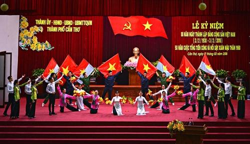 TP Cần Thơ kỷ niệm Ngày thành lập Đảng và 50 năm cuộc Tổng tiến công và nổi dậy Xuân Mậu Thân 1968