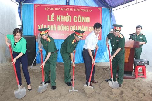 """Bộ CHQS tỉnh Nghệ An: Khởi công xây dựng """"Nhà đồng đội"""""""