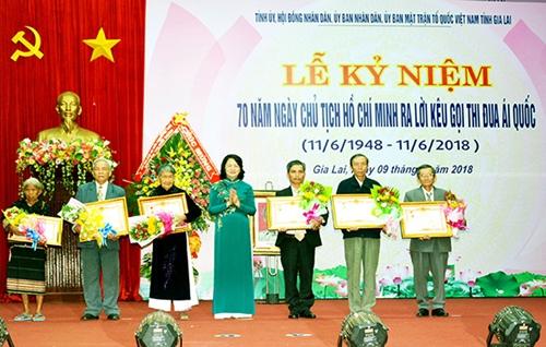 Tỉnh Gia Lai tổ chức Lễ kỷ niệm 70 năm Ngày Chủ tịch Hồ Chí Minh ra Lời kêu gọi thi đua ái quốc