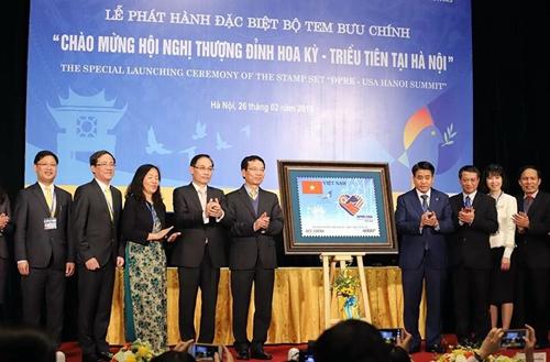 """Phát hành đặc biệt bộ tem """"Chào mừng Hội nghị thượng đỉnh Hoa Kỳ-Triều Tiên tại Hà Nội"""""""