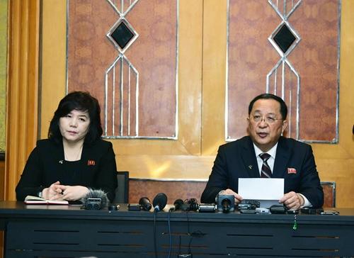 Đoàn Triều Tiên tổ chức họp báo ở Hà Nội