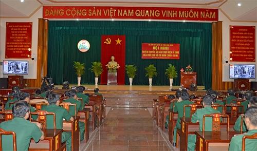 Bộ CHQS tỉnh Bình Định tuyên truyền 50 năm thực hiện Di chúc của Chủ tịch Hồ Chí Minh