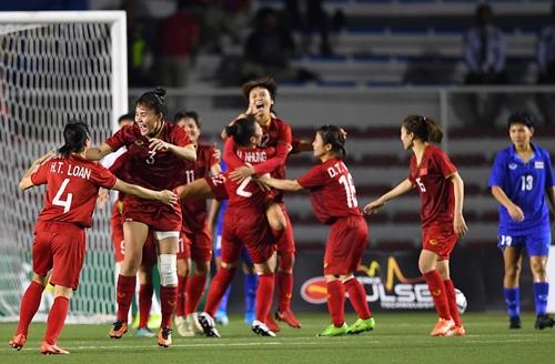 ĐT bóng đá nữ Việt Nam xếp vị trí thứ 34 thế giới