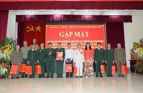 Tỉnh Điện Biên gặp mặt cán bộ quân đội nghỉ hưu trên địa bàn