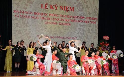 Quận Hoàn Kiếm kỷ niệm 30 năm Ngày hội Quốc phòng toàn dân và 75 năm Ngày thành lập QĐND Việt Nam