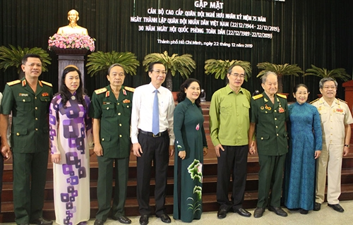 Thành ủy TP Hồ Chí Minh gặp mặt cán bộ cao cấp quân đội nghỉ hưu