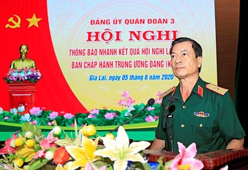 Đảng ủy Quân đoàn 3 thông báo nhanh kết quả Hội nghị lần thứ 12, Ban Chấp hành Trung ương Đảng khóa XII