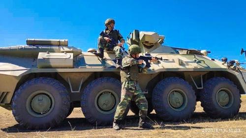 Xe bọc thép BTR-82A trong cuộc thi