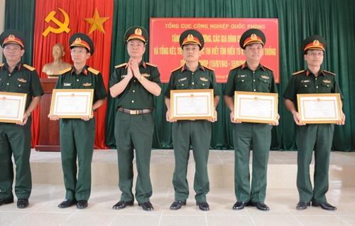 Tổng cục Công nghiệp Quốc phòng trao giải Cuộc thi viết Tìm hiểu 75 năm truyền thống Tổng cục Công nghiệp quốc phòng