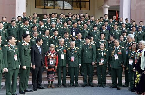 Gặp mặt đại biểu Quân đội dự Đại hội Thi đua yêu nước toàn quốc lần thứ X