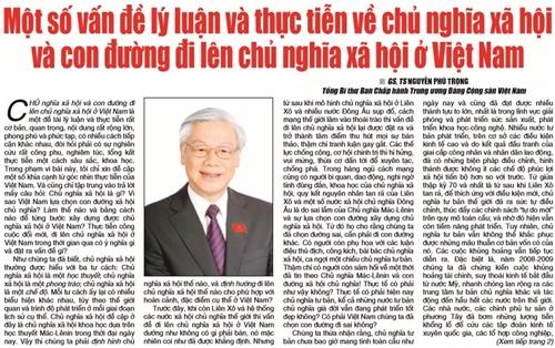 Bản tin 35 Online: Vững tin vào con đường đi lên chủ nghĩa xã hội ở Việt Nam