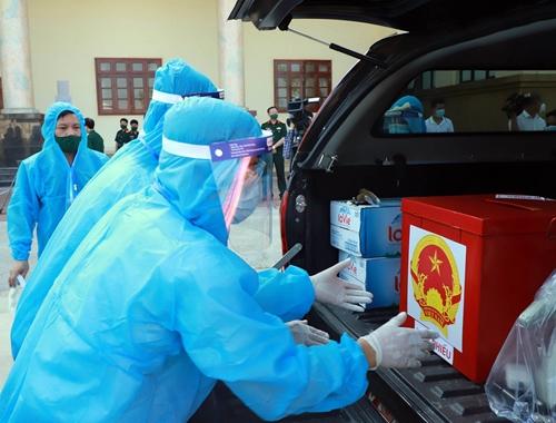Bầu cử sớm tại các khu cách ly tập trung ở Bắc Ninh