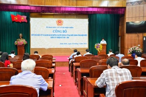 Điện Biên và Sơn La công bố kết quả bầu cử đại biểu Hội đồng nhân dân tỉnh khóa XV, nhiệm kỳ 2021-2026