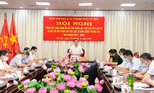 Ban Chỉ đạo 515 thành phố Hà Nội tổng kết đề án tìm kiếm, quy tập và xác định hài cốt liệt sĩ còn thiếu thông tin
