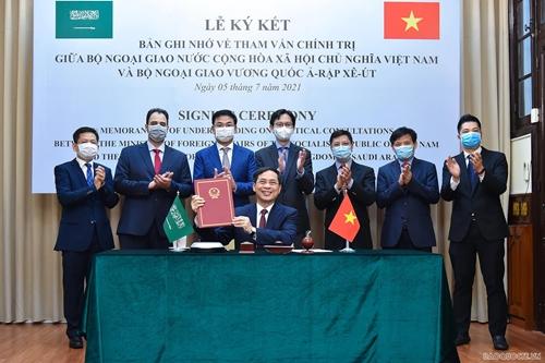 Bộ Ngoại giao Việt Nam và Bộ Ngoại giao Saudi Arabia ký Bản ghi nhớ về tham vấn chính trị