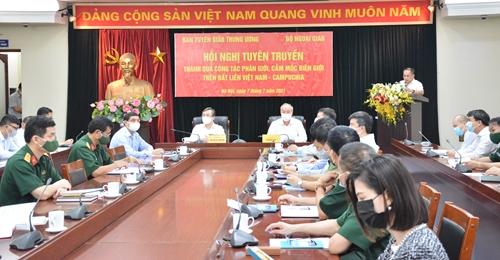 Hội nghị tuyên truyền thành quả công tác phân giới cắm mốc biên giới trên đất liền Việt Nam - Campuchia
