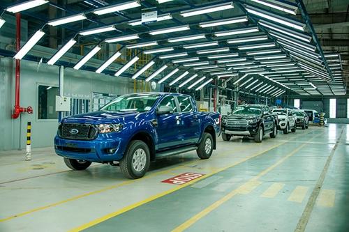 Ford Ranger 2021 lắp ráp tại Việt Nam chính thức xuất xưởng