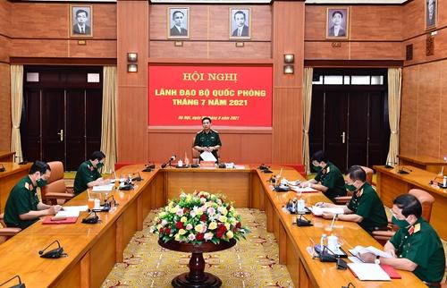 Hội nghị lãnh đạo Bộ Quốc phòng tháng 7 năm 2021