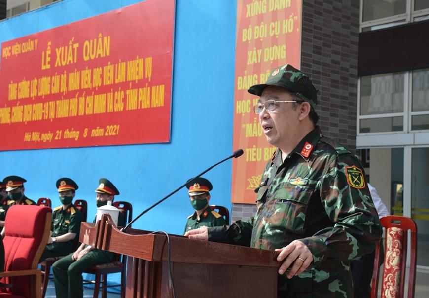 Học viện Quân y xuất quân tăng cường lực lượng vào miền Nam chống dịch