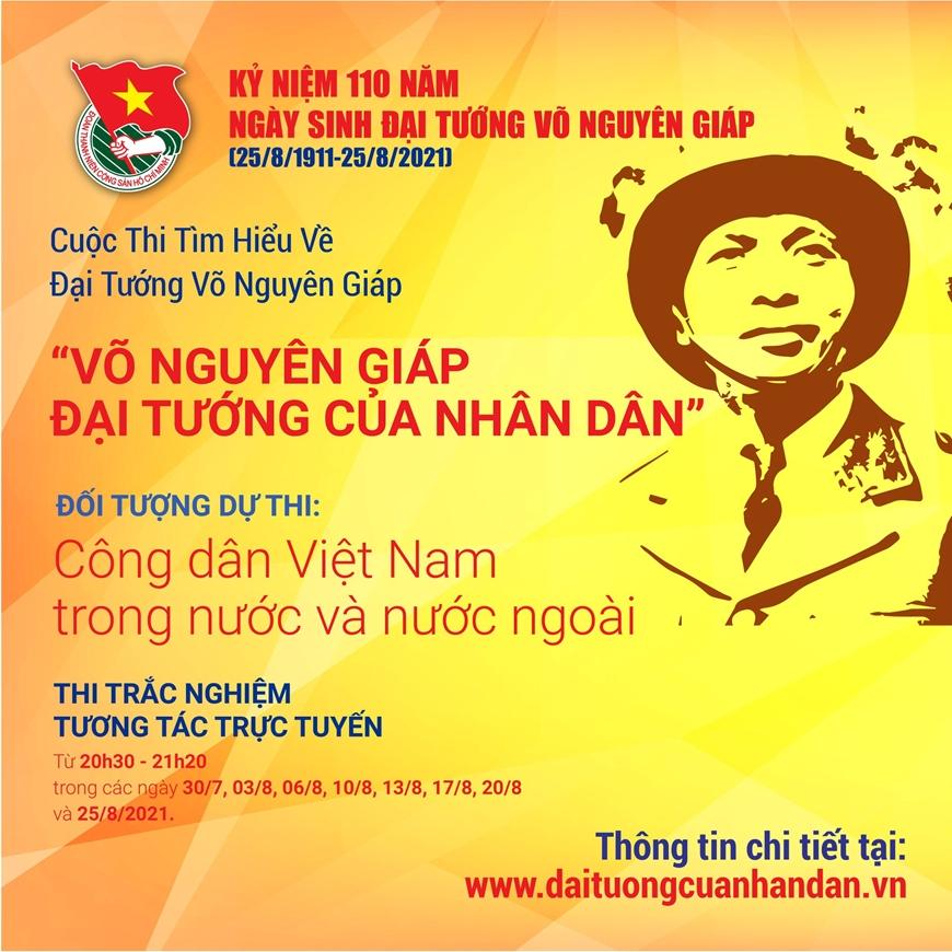 Cuộc thi tìm hiểu về Đại tướng Võ Nguyên Giáp nhận bài thi viết từ ngày 25-8-2021