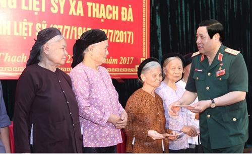 Đại tướng Phùng Quang Thanh - người con ưu tú của quê hương Mê Linh