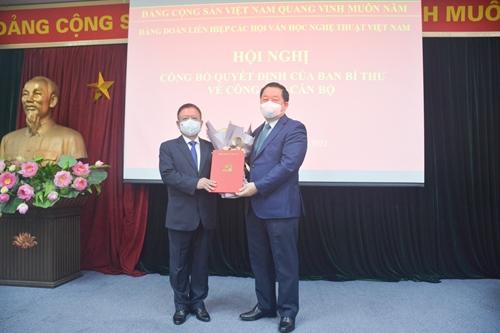 Đồng chí Đỗ Hồng Quân giữ chức Bí thư Đảng đoàn Liên hiệp các Hội Văn học Nghệ thuật Việt Nam