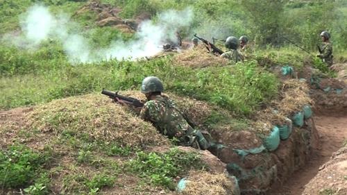 Sư đoàn 325 tổ chức diễn tập chiến thuật có bắn đạn thật cấp tiểu đoàn