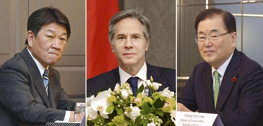 Mỹ, Nhật Bản và Hàn Quốc cam kết hợp tác chặt chẽ trong vấn đề Triều Tiên