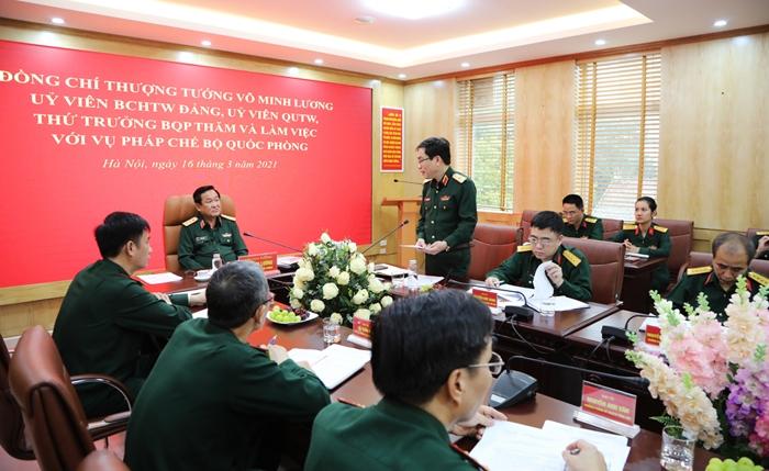 Nâng cao chất lượng công tác pháp chế trong quân đội đáp ứng yêu cầu nhiệm vụ trong tình hình mới