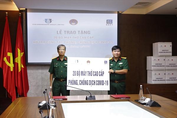 Tổng Công ty Kinh tế kỹ thuật công nghiệp quốc phòng GAET hỗ trợ phòng, chống dịch 20 máy thở