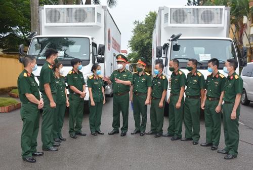 Tổng cục Hậu cần giao nhiệm vụ cho đoàn công tác phòng, chống dịch tại tỉnh Hà Nam