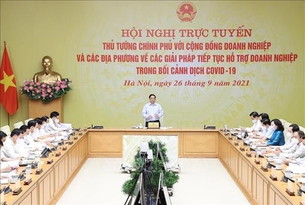 Thủ tướng Phạm Minh Chính Mỗi doanh nhân, doanh nghiệp đều thể hiện khát vọng xây dựng đất nước ta bình an và phát triển