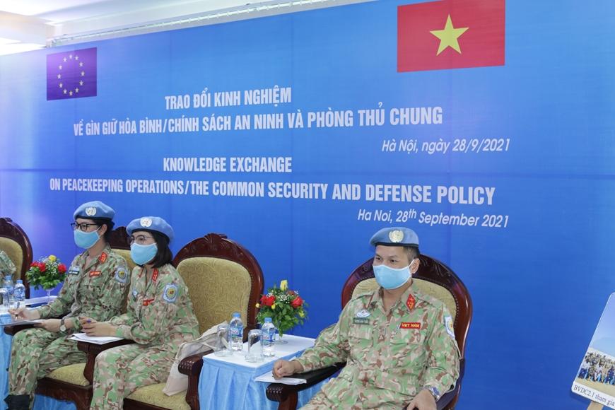 Thúc đẩy hợp tác Việt Nam-EU về Gìn giữ hoà bình và Phòng thủ chung