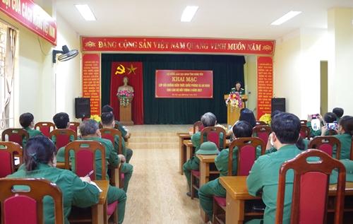 Tỉnh Hưng Yên khai mạc lớp bồi dưỡng kiến thức quốc phòng-an ninh đối tượng 3