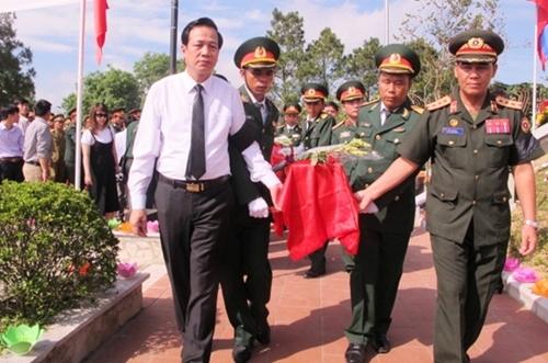 Quy tập một hài cốt liệt sĩ ở xã Hương Nguyên (A Lưới, Thừa Thiên Huế)