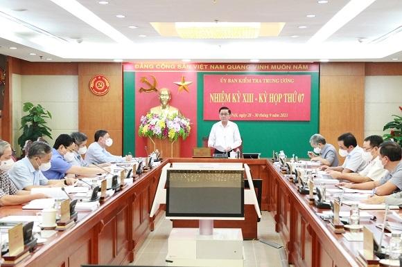 Thông cáo về Kỳ họp thứ bảy của Ủy ban Kiểm tra Trung ương