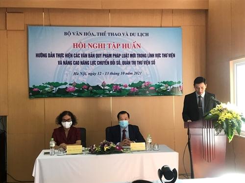 Tập huấn toàn quốc triển khai các văn bản pháp luật mới trong lĩnh vực thư viện