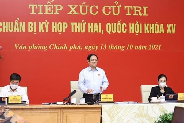 Thủ tướng Phạm Minh Chính và Đoàn đại biểu Quốc hội thành phố Cần Thơ tiếp xúc cử tri trước Kỳ họp thứ hai, Quốc hội khoá XV