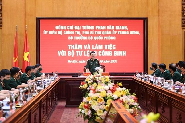 Đại tướng Phan Văn Giang thăm và làm việc với Binh chủng Công binh