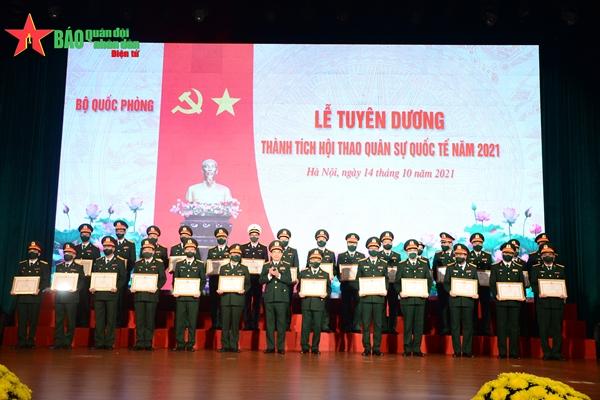 Bộ Quốc phòng tuyên dương thành tích Hội thao Quân sự Quốc tế Army Games 2021